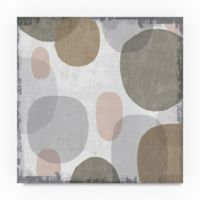 Trademark Fine Art Pastel Drips I 18-Inch Square Canvas Wall Art