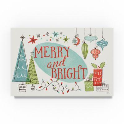 Trademark Fine Art Retro Christmas I 24 Inch X 16 Inch Canvas Wall Art