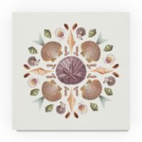 Trademark Fine Art Ocean Mandala II 18-Inch Square Canvas Wall Art
