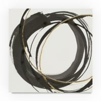 Trademark Fine Art Gilded Enso I 14-Inch Square Canvas Wall Art
