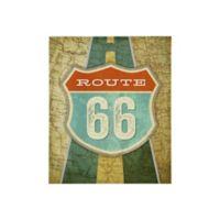 Mi Zone Route 66 20-Inch x 24-Inch Canvas Wall Art