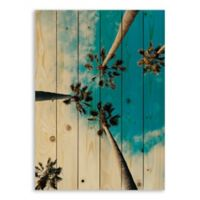 Designs Direct 30-Inch x 21.39-Inch Sky High Palms Wood Wall Art