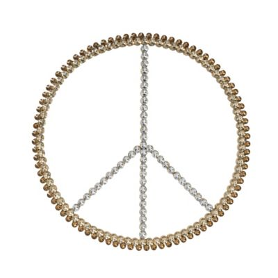 Tripar International 3 Tone Acrylic Bling Peace Sign Wall Art