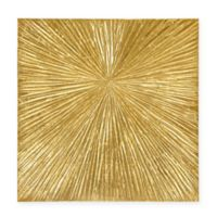 Madison Park Sunburst Palm 30-Inch Round Box Wall Art in Gold