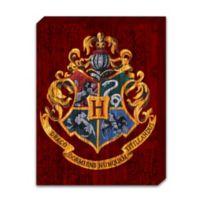 Harry Potter Hogwarts Painted Crest on Banner Box Sign