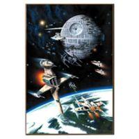 Star Wars Death Star Battle Scene 13-Inch x 19-Inch Metallic Canvas Wall Art