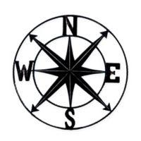 Chesapeake Bay Ltd. 24-Inch Round Compass Wall Plaque