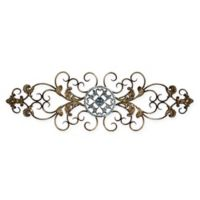 Stratton Home Decor Traditional Scroll Wall Sculpture in Black