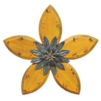 Stratton Home Decor Antique Flower Wall Sculpture in Yellow