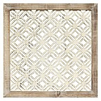 Stratton Home Decor Framed Laser-Cut Wall Art in Distressed White