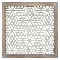 Stratton Home Decor Framed Laser-Cut Wall Art in Distressed Grey