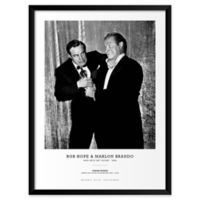 Bob Hope and Marlon Brando 25-Inch x 37-Inch Framed Wall Art