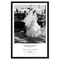 """Artography Limited Elizabeth Taylor 1950 """"First Wedding"""" 25-Inch x 37-Inch Framed Wall Art"""