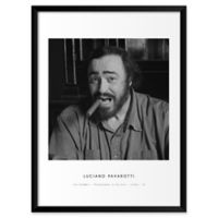 """Artography Limited """"Luciano Pavarotti"""" 19-Inch x 25-Inch Framed Wall Art"""