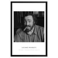 """Artography Limited """"Luciano Pavarotti"""" 25-Inch x 37-Inch Framed Wall Art"""