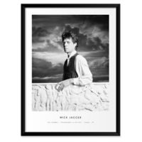 """Artography Limited """"Mick Jagger"""" 19-Inch x 25-Inch Framed Wall Art"""