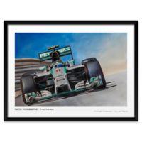 Nico Rosberg Mercedes 19-Inch x 25-Inch Framed Wall Art