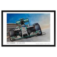 Nico Rosberg Mercedes 25-Inch x 37-Inch Framed Wall Art