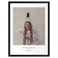 """Artography Limited """"Buffalo Bulls Ghost-Sioux"""" 19-Inch x 25-Inch Framed Wall Art"""