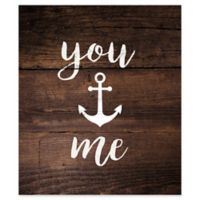 You Anchor Me 13-Inch x 14.75-Inch Wood Wall Art