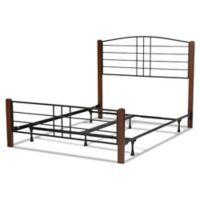 Fashion Bed Group Dayton California King Wood/Metal Platform Bed in Spice/Black Grain Finish