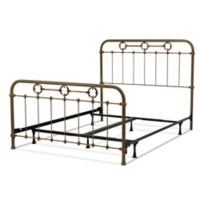 Fashion Bed Group Madera California King Metal Bed with Rustic Green Brass Finish