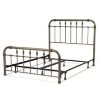 Fashion Bed Group Vienna California King Metal Platform Bed in Aged Gold