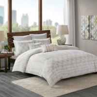 INK+IVY Fiji Full/Queen Comforter Set in Marshmallow