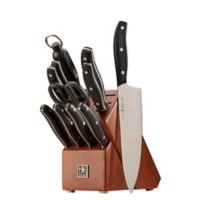 J.A. Henckels International Definition 12-Piece Knife Block Set in Black/Silver