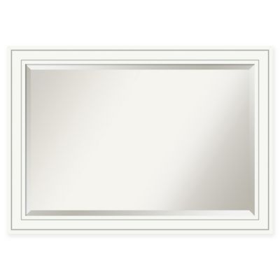 Buy White Framed Bathroom Mirror from Bed Bath & Beyond