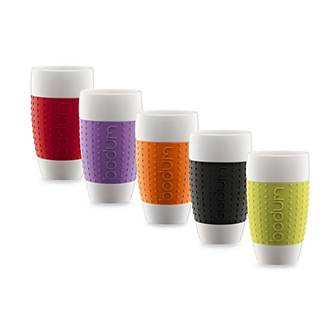 Bodum® Pavina 17 Ounce Porcelain Cups With Silicone Grips (Set Of ...