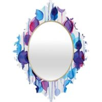 Deny Designs Abstract Watercolor Baroque Small Wall Mirror