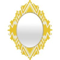 Deny Designs Wic Valley Baroque Medium Wall Mirror in Yellow