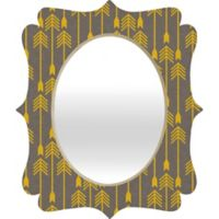 Deny Designs Holli Zollinger 29-Inch x 22-Inch Quatrefoil Yellow Arrow Mirror