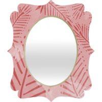 Deny Designs Julia Da Rocha 19-Inch x 14-Inch Quatrefoil Watercolor Palms Mirror