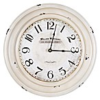 Yosemite Home Décor William Marchant Wall Clock in Distressed White