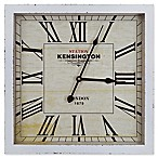 Yosemite Home Décor Caspian Distressed Wooden 16-Inch Square Wall Clock in White