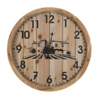 Yosemite Home Décor Walla Walla Winery Wall Clock in Brown