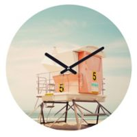 DENY Designs Bree Madden Beach Tower 5 12-Inch Round Wall Clock