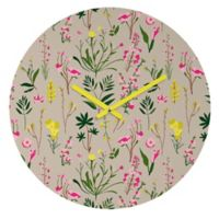 DENY Designs Holli Zollinger Wild Flower Study Neutral 12-Inch Round Wall Clock