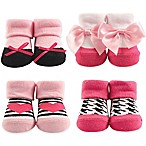 Hudson Baby® 4-Piece Heart Socks in Box Set in Pink