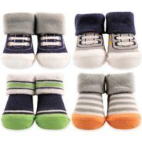 Hudson Baby® 4-Piece Athletic Socks in Box Set