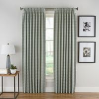 Boratta Geo 95-Inch Pinch Pleat Rod Pocket/Back Tab Window Curtain Panel in Basil