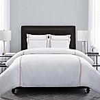 Wamsutta® Hotel Triple Baratta Stitch King Duvet Set in White/Blush