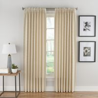 Boratta Geo 95-Inch Pinch Pleat Rod Pocket/Back Tab Window Curtain Panel in Ivory