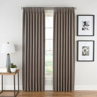Honeycomb Matelassé 108-Inch Pinch Pleat Window Panel in Haze