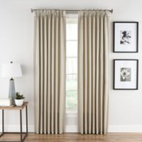 Honeycomb Matelassé 63-Inch Pinch Pleat Window Panel in Linen