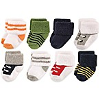 Luvable Friends™ Newborn 8-Pack Athletic Socks in Blue