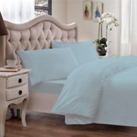 Brielle 630-Thread-Count Premium Long Staple Cotton Full/Queen Duvet Cover in Light Blue