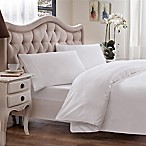 Brielle 630-Thread-Count Premium Long Staple Cotton King Duvet Cover in White